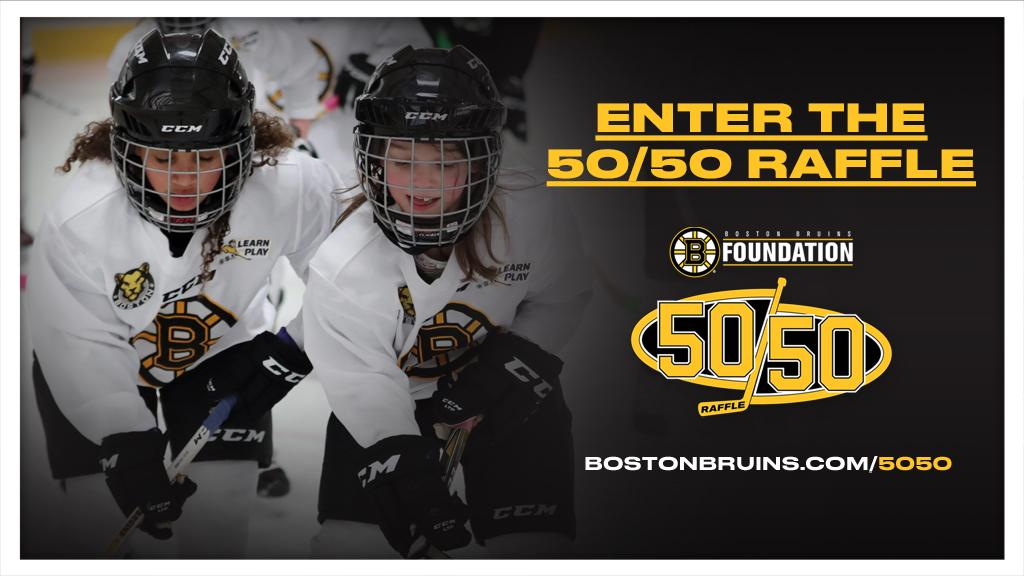 Support youth hockey organizations in Massachusetts by purchasing your Boston Bruins Foundation 50/50 Raffle tickets today! This raffle is live until the start of the 3rd period of the #NHLBruins game on March 3.   🎟: