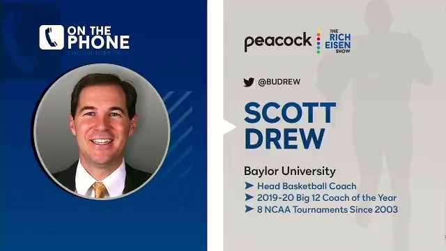 Great chat with @BaylorMBB head caoch @BUDREW on how he's getting ready for #MarchMadness, especially on the heels of their first loss this weekend:
