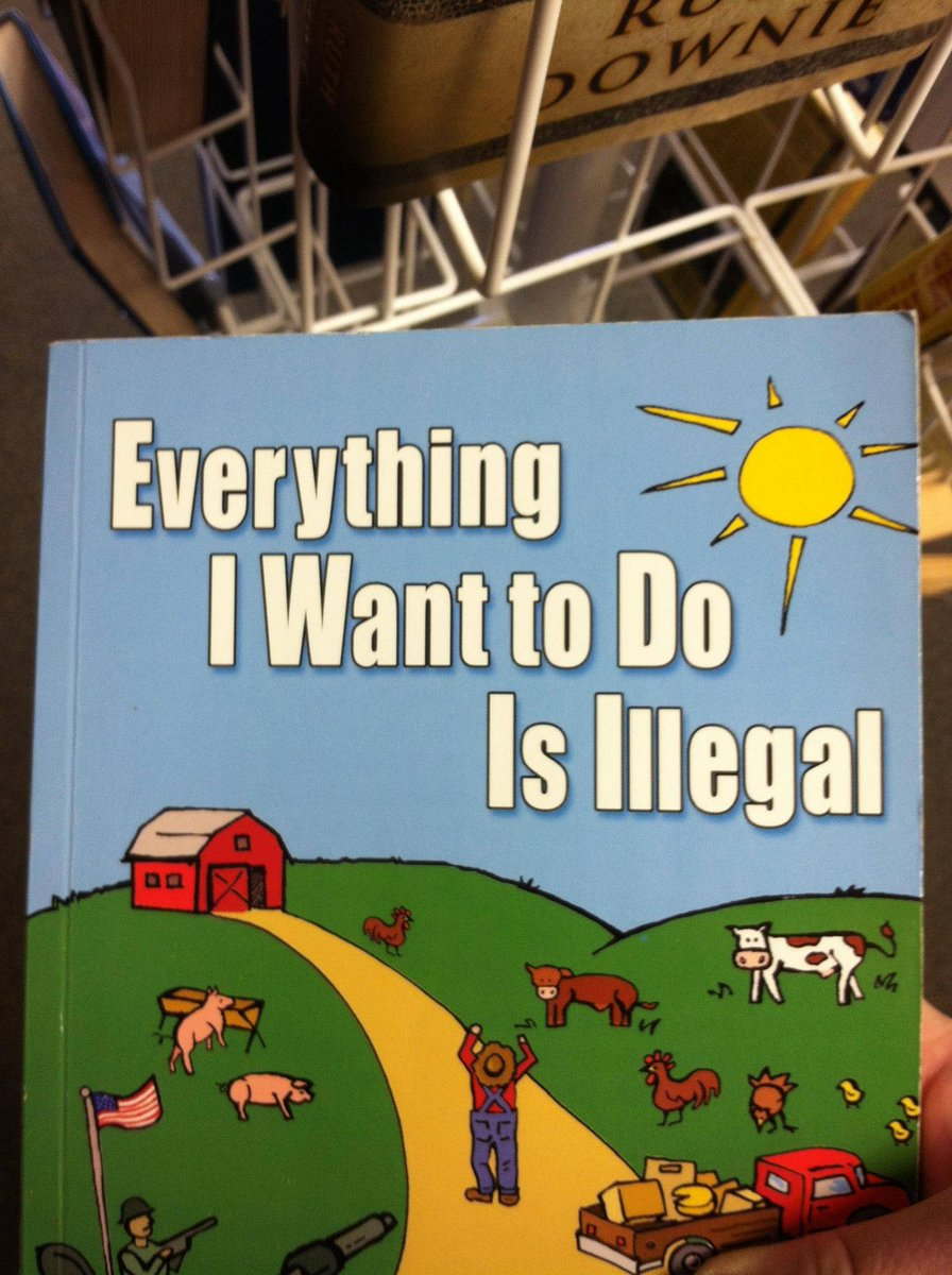 Everything I Want To Do Is Illegal is a hilarious book even though the topic is deadly serious. It's an in your face rational rebuttal to all of the STUPIDEST things government and agribusinesses do to screw up farming and the food supply:  #ad