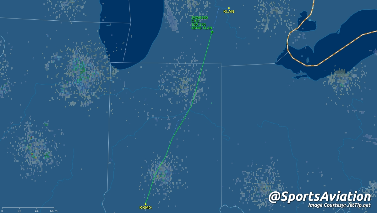 🏀 Indiana Hoosiers (@IndianaMBB) 🗒️ #iubb up to East Lansing for Tuesday night 🆚 Michigan State Spartans #GoGreen #Sparty #IUvsMSU ✈️ SKW6560 | N933EV | CRJ2 🛫 BMG - 6:53pm ET 🛬 LAN - 7:38pm ET Track Here👉🏼: