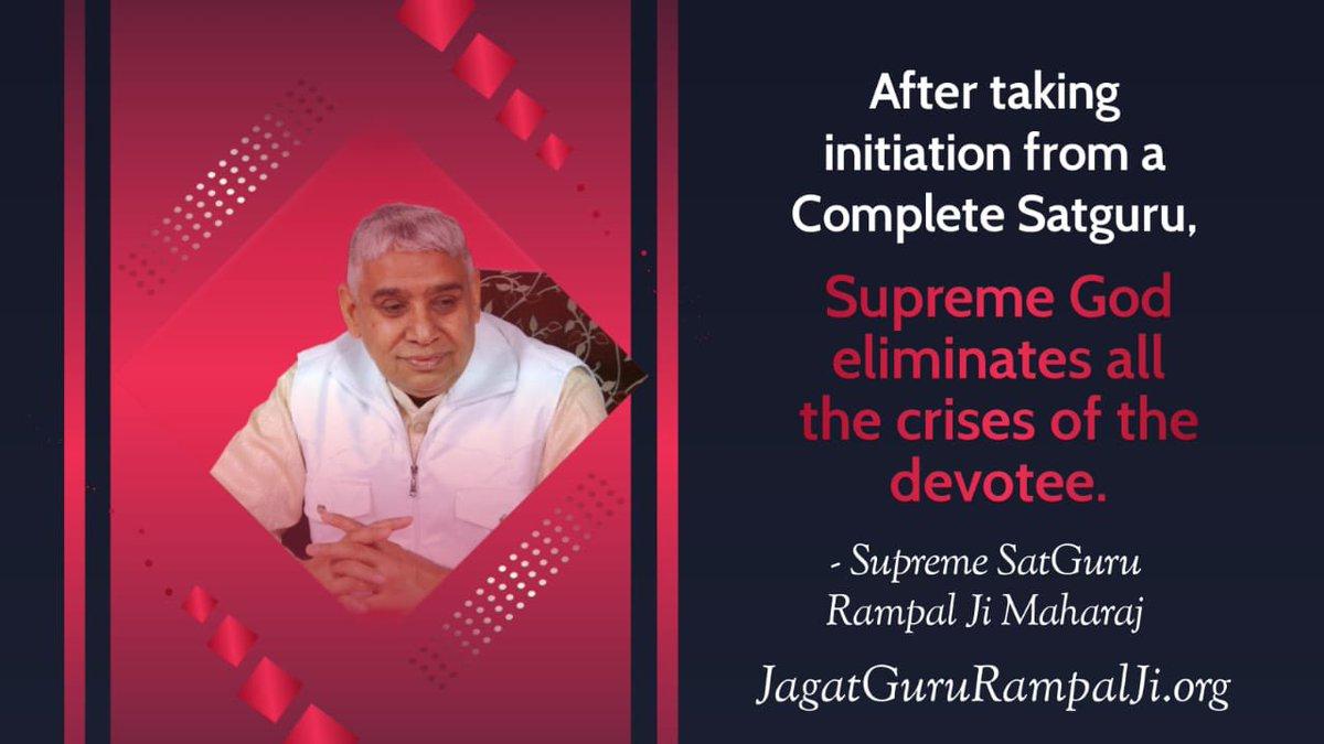 #GodMorningTuesday  True worship eliminates all the deadly sins of a true Devotee.  -Last Prophet Saint Rampal Ji  To know more, #MustListen_Satsang on SadhnaTv channel at 7:30 pm