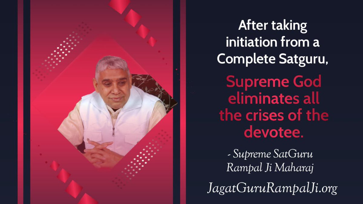 #GodMorningTuesday  True worship eliminates all the deadly sins of a true Devotee.  -Last Prophet Saint Rampal Ji  To know more, #MustListen_Satsang