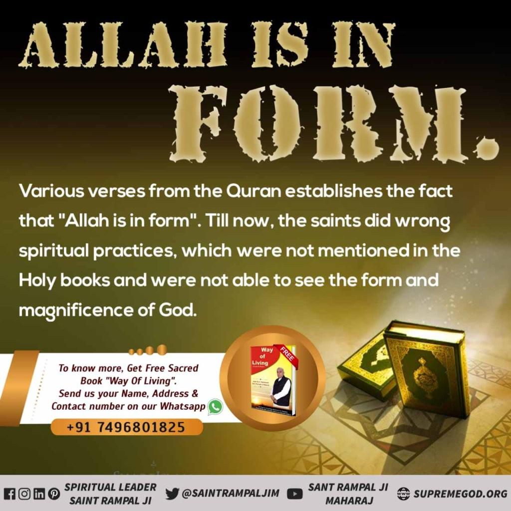 #GodMorningTuesday  Allah is form not formless, formless his power.  @SantRampalGVid #tuesdaymotivations