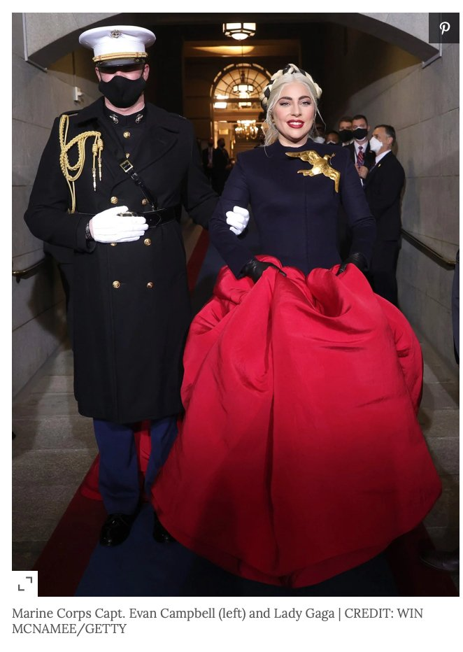 @Gaga any opportunity to post my favorite #Inauguration photo of @Gaga! #Military!! @LATimes