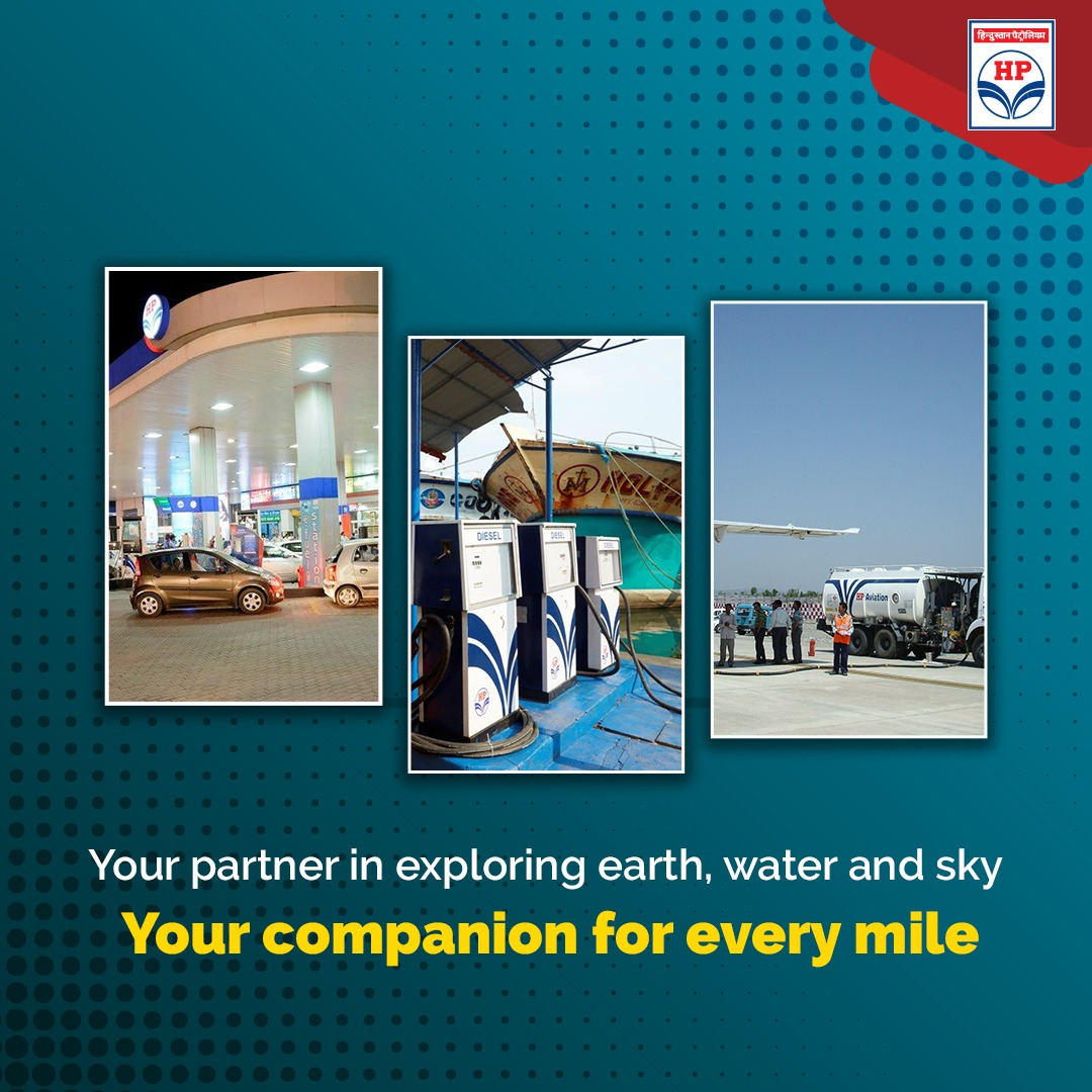 Exploring knows no limits. Be it the #sky, the #oceans, the #land, #HPCL will always be around to fuel your #passion.   #DeliveringHappiness