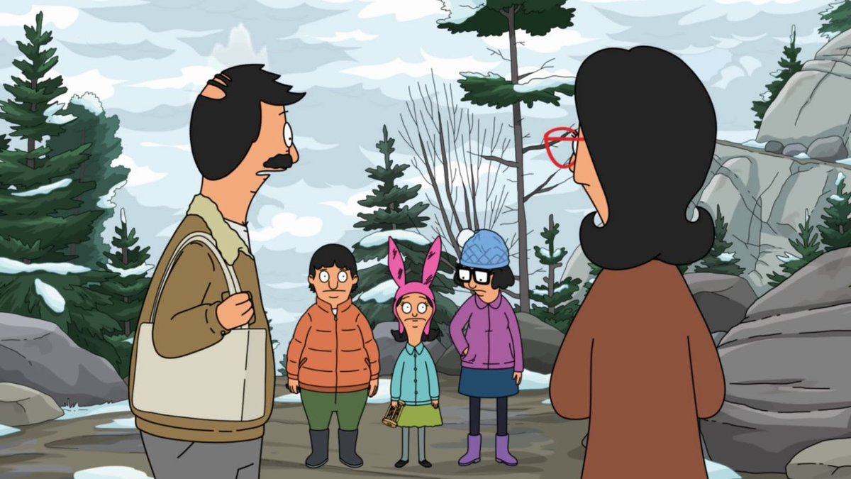 Okay, I didn't even notice until just now that steam would pop up out of Bob after he and the rest of the family went up the hill for the photoshoot. I thought it was nothing more than an art error that people usually ignore. My eyes are probably made for decoration. #BobsBurgers
