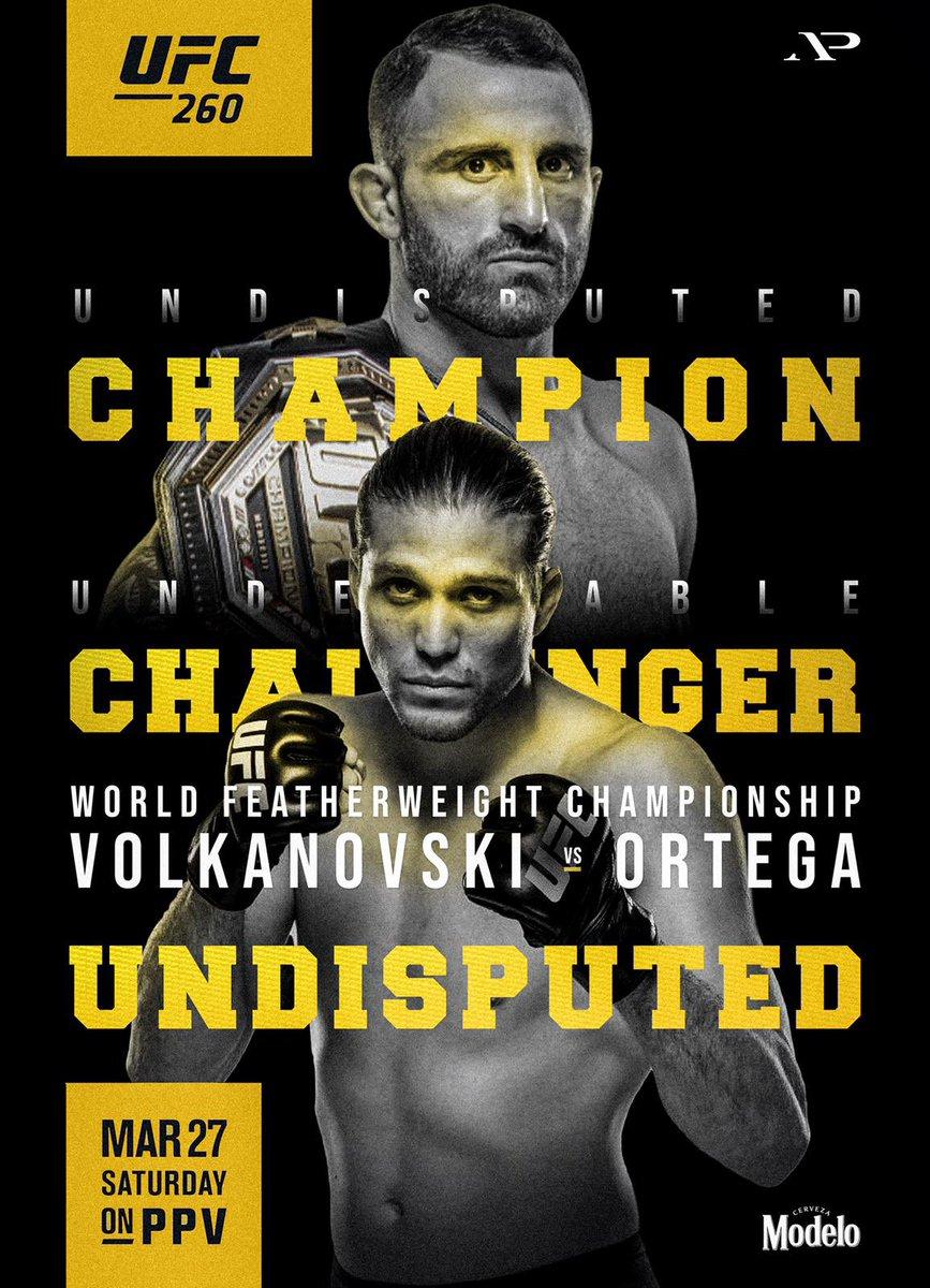 Replying to @alexvolkanovski: #UFC260 👊