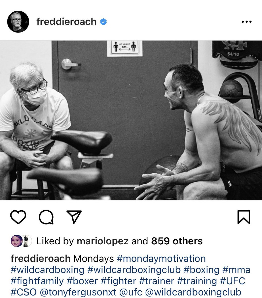 Freddie Roach worked with Tony Ferguson today. https://t.co/YaVe54b2Jw https://t.co/1o2TFOuuZv