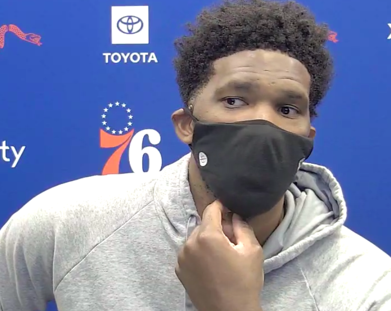 """Joel Embiid on going against Myles Turner:  """"I say this respectfully, that's a matchup I've dominated since I got to the league"""" ☠️  @FortyEightMins 
