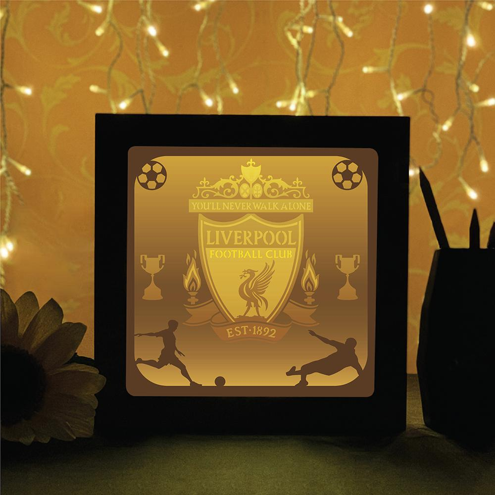 Liverpool - Paper Cutting Light Box - LightBoxGoodman    Goodman  $54  #Goodman #Liverpool #Paper #all #ball