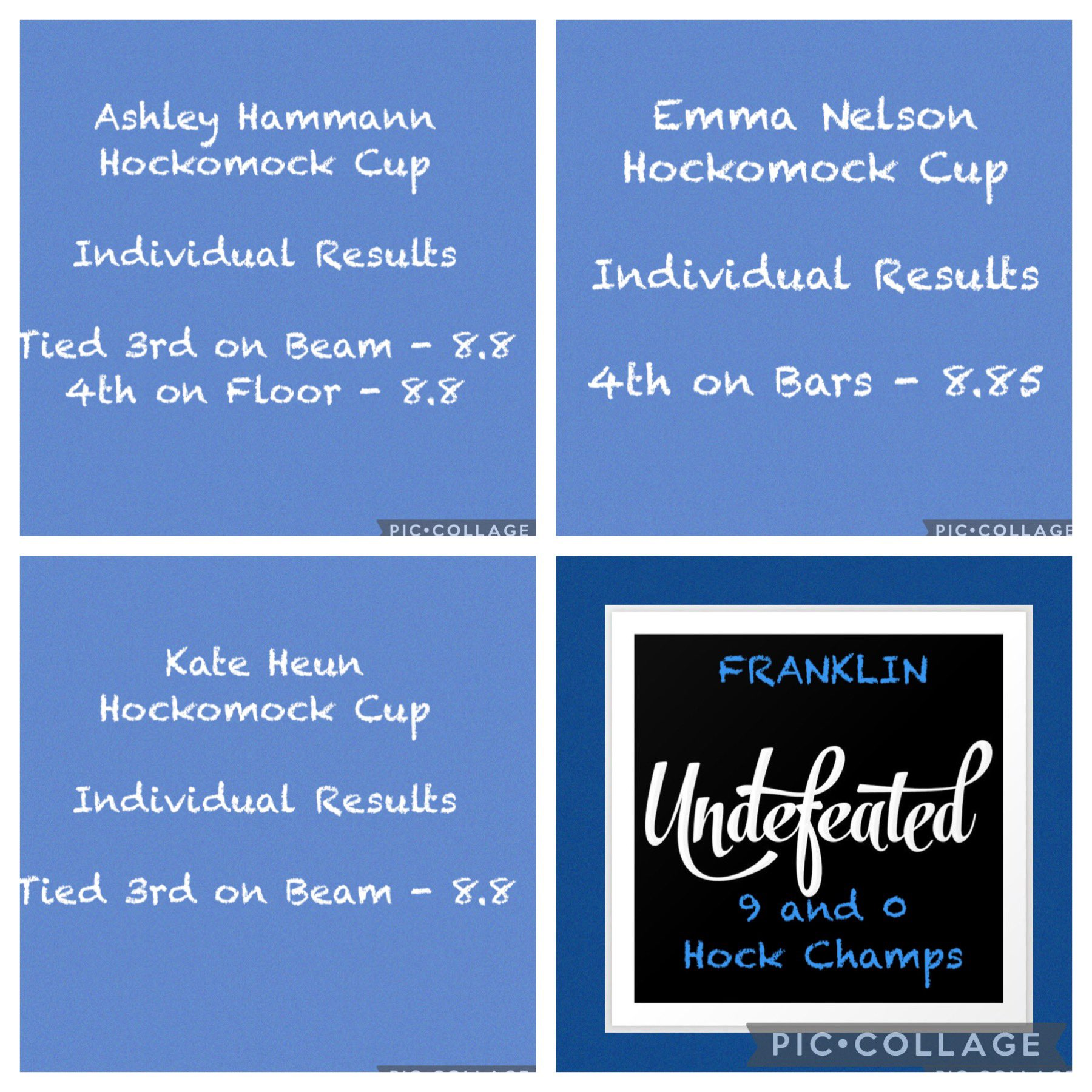 FHS Gymnastics: Hockomock Cup Placements 1