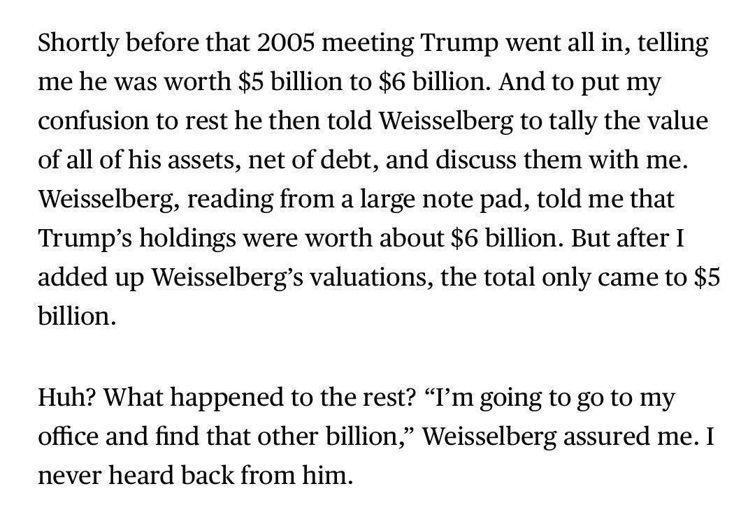That time that Allen Weisselberg misplaced $1 billion of Donald Trump's money: bloomberg.com/opinion/articl…