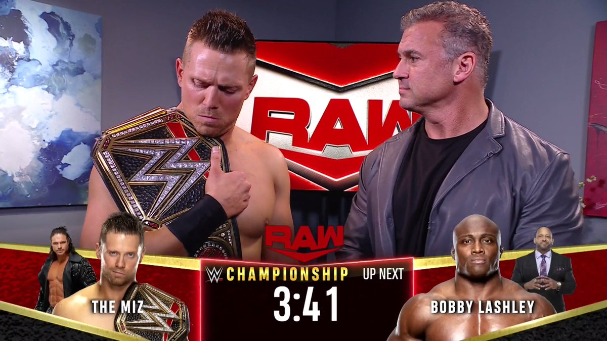 Replying to @WWE: The time is almost up.   #WWERaw @mikethemiz @shanemcmahon