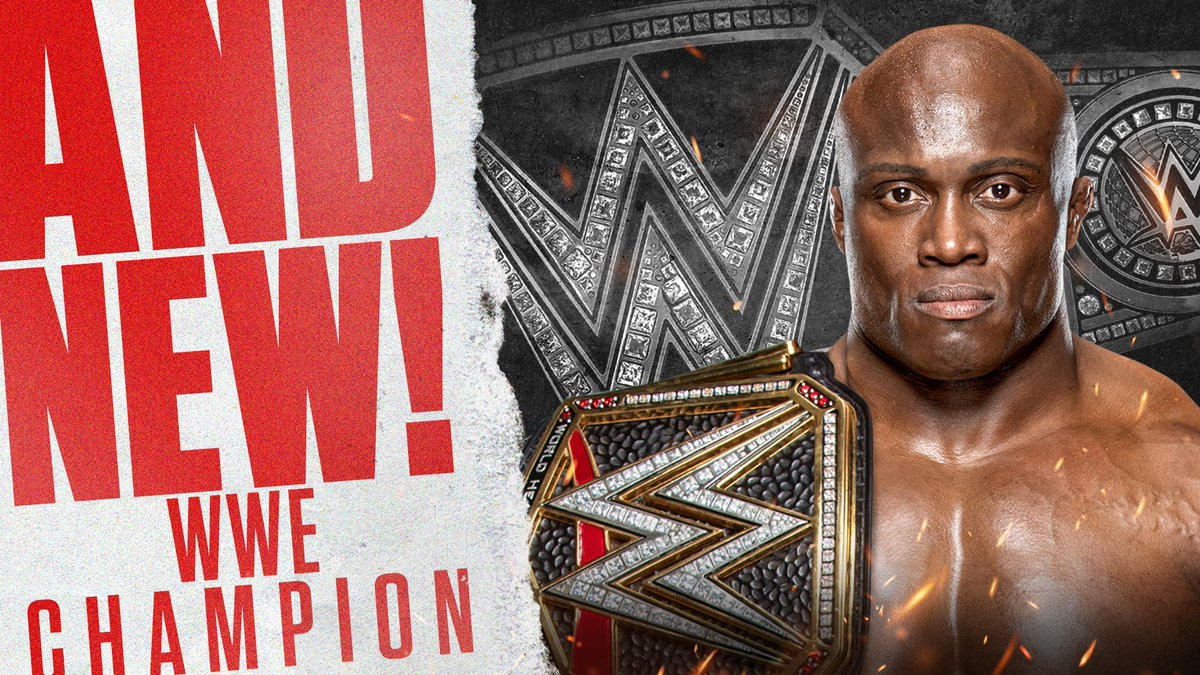Replying to @WWE: #AndNew! @fightbobby is the NEW WWE CHAMPION!  #WWERaw