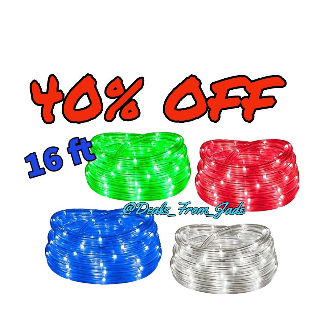 LED rope lights! Decorate for a party, or use as acent lighting. Use code 40WTEQAY #DealsFromJade #Lighting #LED #RopeLights #Party #DYI #decor #discountcode #Amazon #StPatricksDay #NightLight