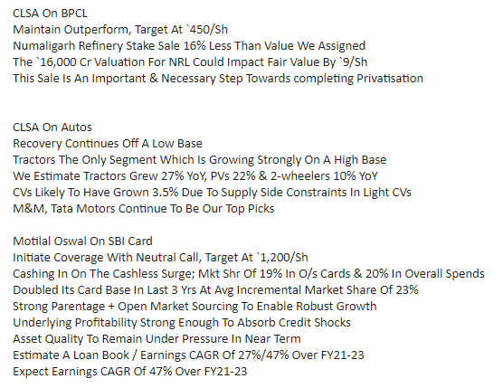 Replying to @Sharad9Dubey: Brokerages with @CNBC_Awaaz   #StocksToWatch