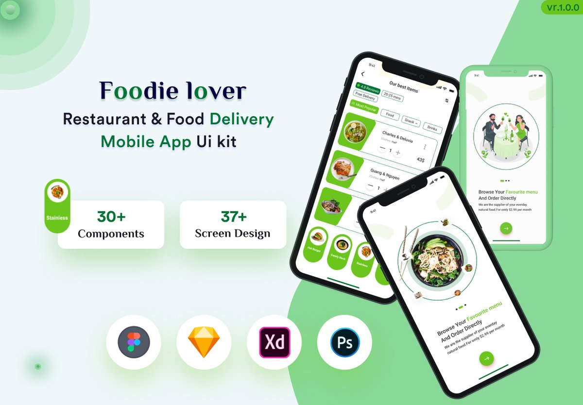 #UFC257 My new #Foodie_lover_Restaurant_and_Food_Delivery_Mobile_App_UI_kit Looking for a #Branding #Corporate_website #Identity_of_your_Business #Digital_Products #landingpage #mobileapp #mobile_app_design Contact Me: #TheBachelor #João #Israel #gfvip