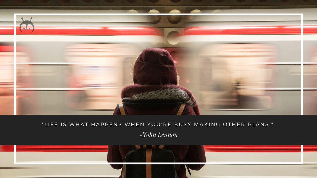 """""""Life is what happens when you're busy making other plans."""" -John Lennon . . Follow @imbotpenguin  for more updates. . . #botpenguin #chatbot #quotes #quoteoftheday #quotesaboutlife #motivationalquotes #motivational #inspirationalthoughts #motivated"""