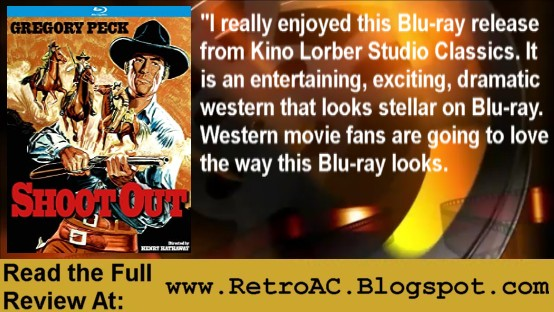 #Stayhome & check out the #MovieReview of #GregoryPeck in Shoot Out.   #western #movies #tuesdaymotivations #coronavirus #Bluray #physicalmedia #physicalmediaforever #physicalmediaisnotdead #CinephileDogpile #writerslift #writers #bloggingcommunity #blogger