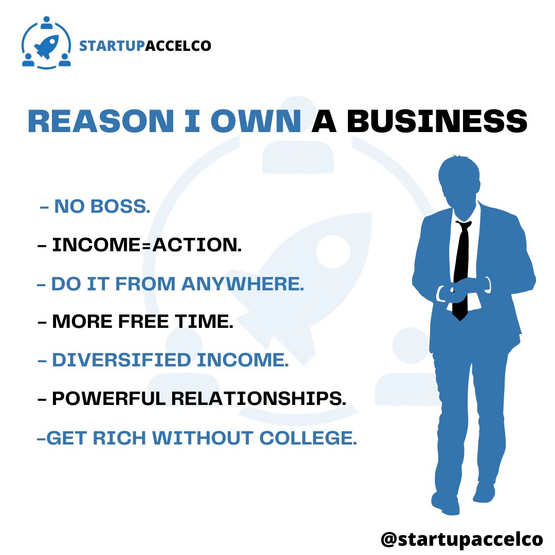 REASON I OWN A BUSINESS  #smallbusiness #marketingtips #marketingstrategy #richestperson #startupaccelerator #onlinebusiness #hustlehard #businessgoal #businessmindset #entrepreneure #bda #bdatechnologies