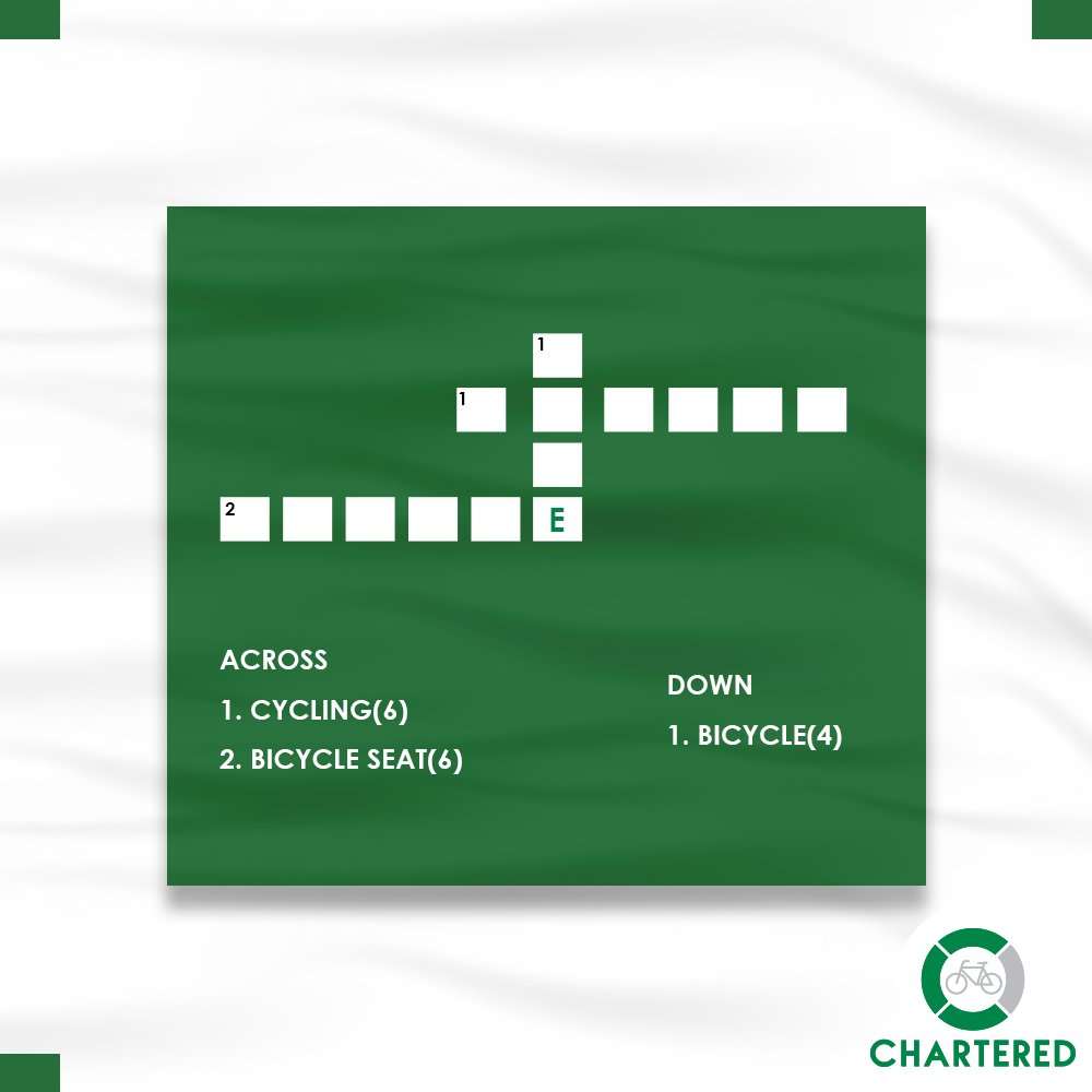 Easy one, right? Let's start... #CharteredBikeQuiz #CrossWord #Cycles4Change #CyclingTips #Fitlife #Cycling #Ride #StartCycling #Cycling #SayNoToPollution #GoGreen #SaveEnvironment #HealthyIndia