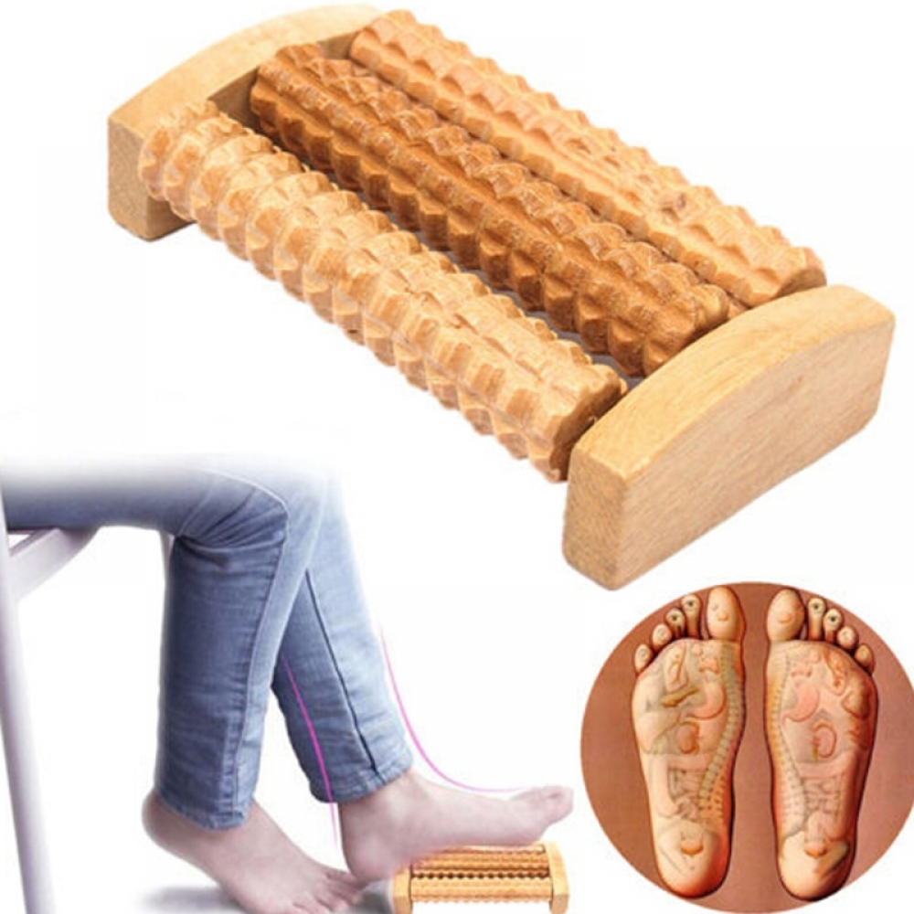 Hot Heath Foot Therapy Relax Massage Relaxation Wood Roller #l4l #instago