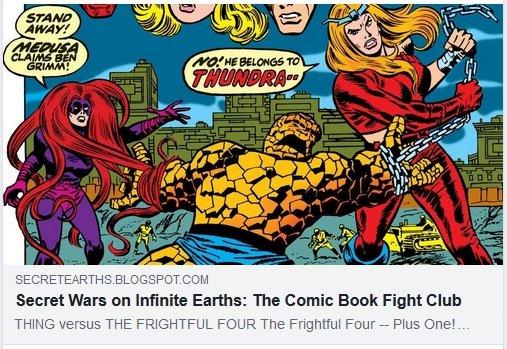THING versus FRIGHTFUL FOUR #FIGHT:  #Trending #FantasticFour #Thing #Medusa #Sandman