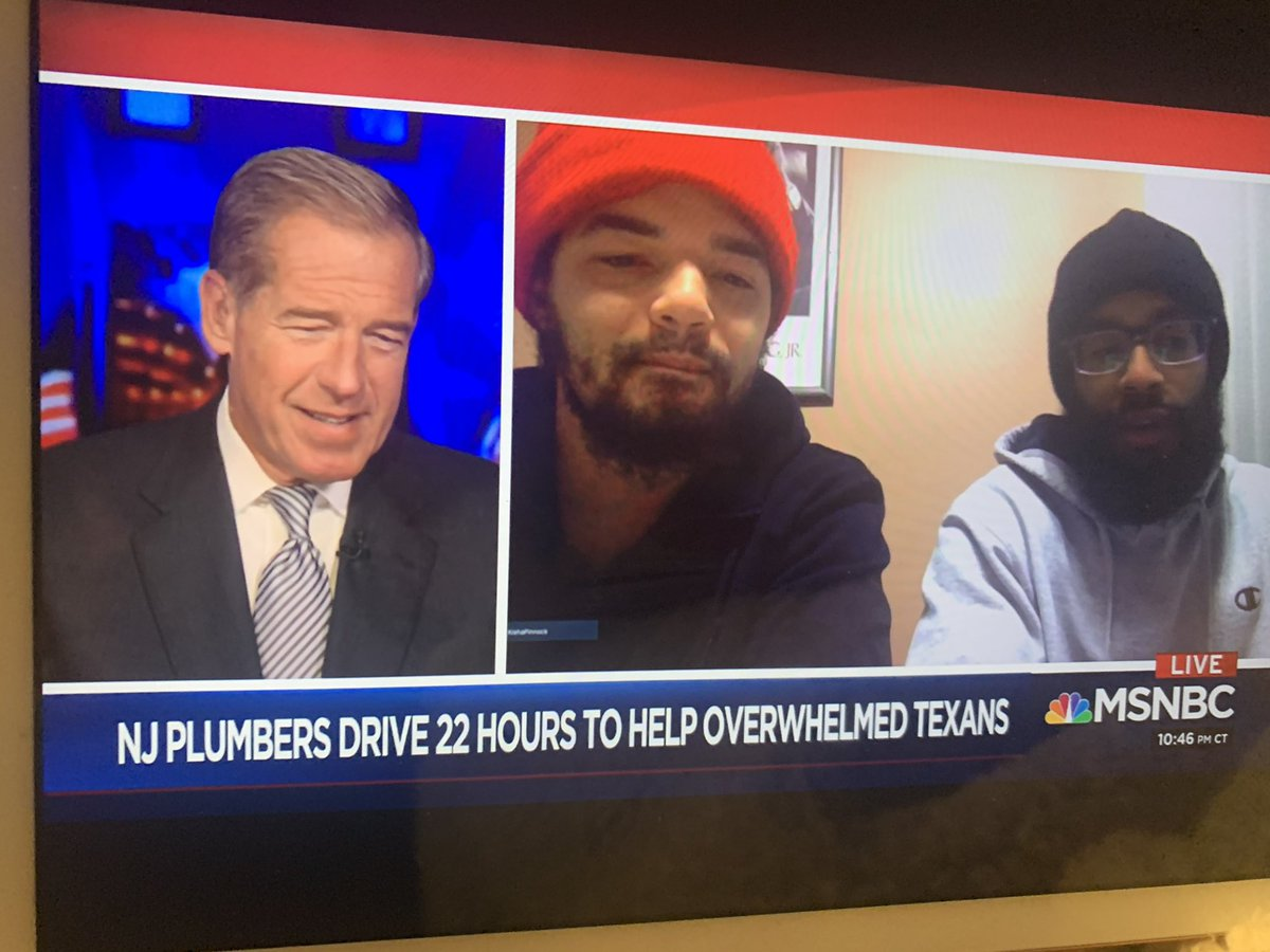These two plumbers packed up supplies & drove NJ to Texas to fix 30 family's homes. @the11thHourShow  🙌🏽🌺 #actsofkindness #blackmen #goodmorning #tuesdaymotivations #volunteerism #TexasWinterStorm2021 #Covid19UK #AmericanRescuePlan