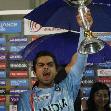 #OnThisDay in 2008, @imVkohli led #TeamIndia 🇮🇳 to U-19 World Cup title victory 🏆  P.S.: Congratulations to the skipper on becoming the first cricketer to reach 1⃣0⃣0⃣M followers on Instagram 👌