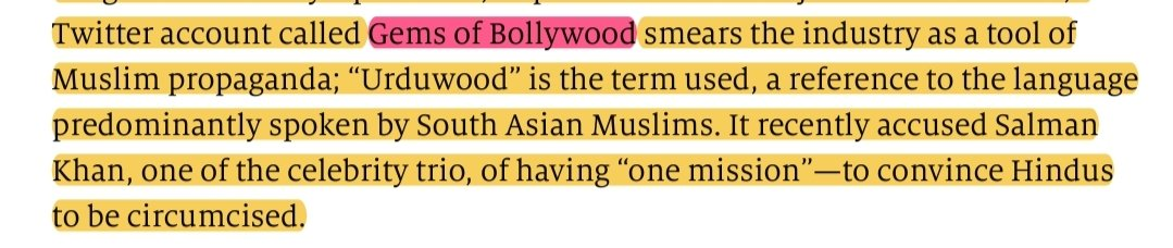 Oh oh oh. Now, it's the powerful 'The Economist' that has gone after us. A hit-job on @GemsOfBollywood in their recent article 'The siege of Bollywood' that appears in both digital and print. They have a problem with our use of  'Urduwood'. One hit-job after another. Bring it on