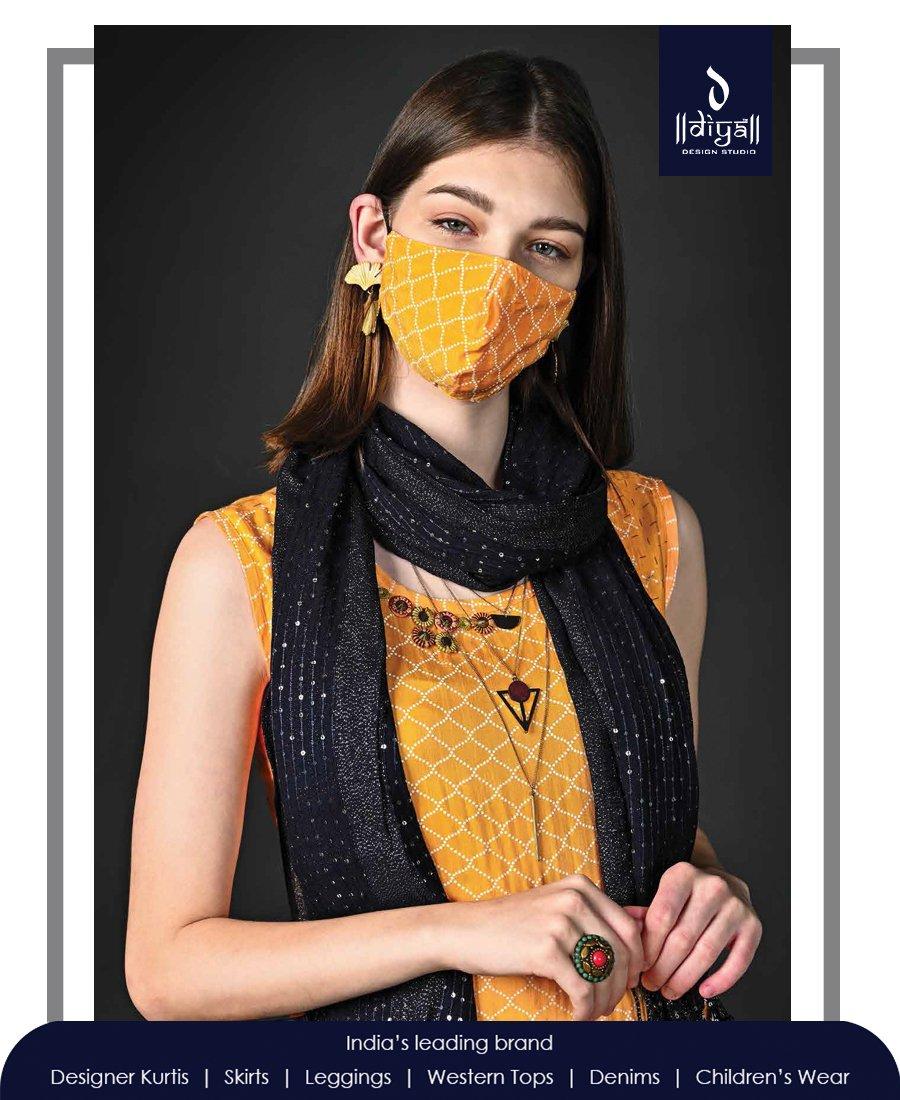 Fashionable kurtis and protective masks from Diya Design Studio, not just to keep you safe, but also look ravishing!  #diya #design #studio #style #swag #statement #love #fashion #ethnicwear #collection #mumbai #india #designer #clothes #casual #mask #kurti #protection #pandemic