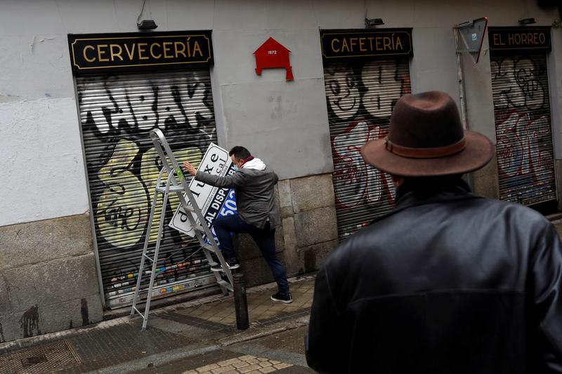 Spain's jobless hit four million in February as pandemic restrictions bite