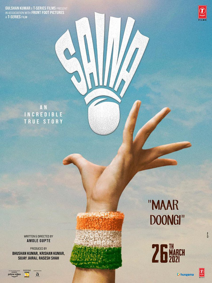 I'm so glad to share a glimpse of my upcoming movie, #Saina. Lots of love to the entire team. In cinemas on 26th March.  @ParineetiChopra #AmoleGupte @Manavkaul19 @eshannaqvi #BhushanKumar @deepabhatia11 @sujay_jairaj @raseshtweets #KrishanKumar @AmaalMallik @manojmuntashir ...