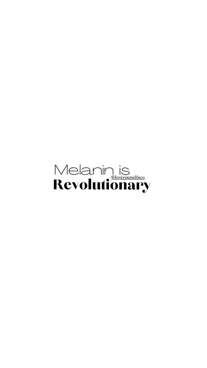 "Black History Month may have come to an ""end"" But one thing us here at @loveyourselfnco know to be true is OUR 🤎#Melanin #revolutionary #bhm365  #loveyourself #melanatedskinmatters #minimalmaximalism #BlackTwitter #beauty #culture #history #africanamericanhistory #africanhistory"