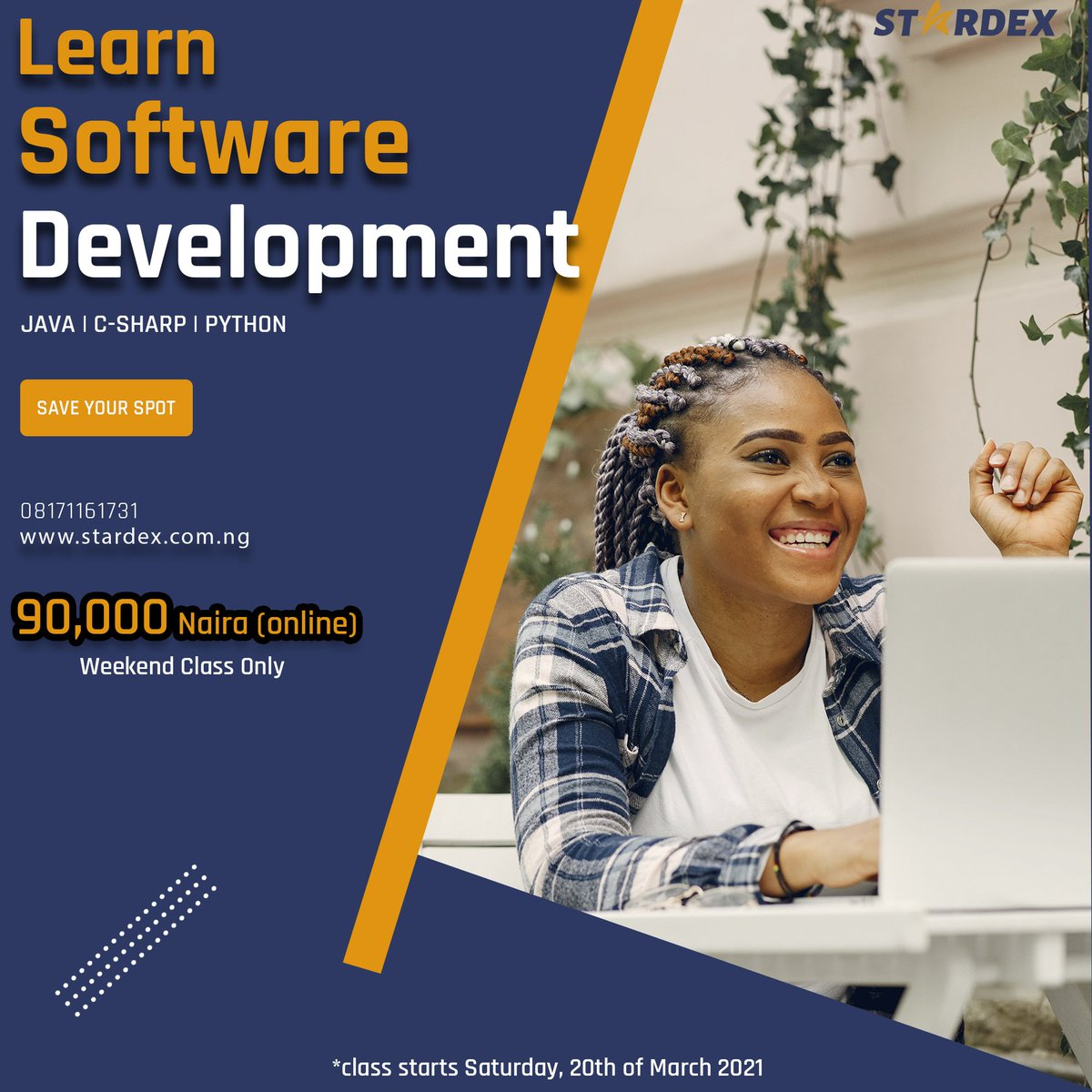 You need to #Learn #Digital #Skill to strive in this Digital #World of #Today Join us @Stardex_tech to learn #Software Development and you will #Thank me later!