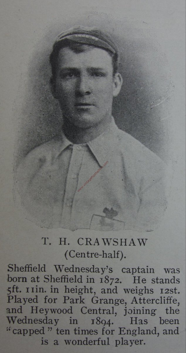 No 183 - Tommy Crawshaw. The only #swfc player to win the #FACup with the club twice, the local centre half spent the majority of his career with the owls. The 10 cap @England international made 492 league appearances between 1894 and 1909.