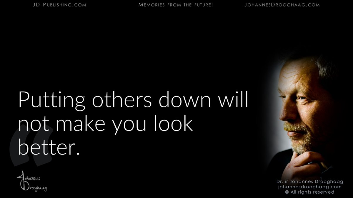 🔵 Putting others down will not make you look better.  #Quote #Inspiration #Motivation #QOTD #IQRTG #FoodForThought via @DrJDrooghaag @Fabriziobustama @archonsec @FrRonconi @Victoryabro @baski_LA @loveGoldenHeart @fogle_shane https://t.co/K8ghqgssv8