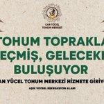 Image for the Tweet beginning: Can Yücel Tohum Merkezi'nin açılışını