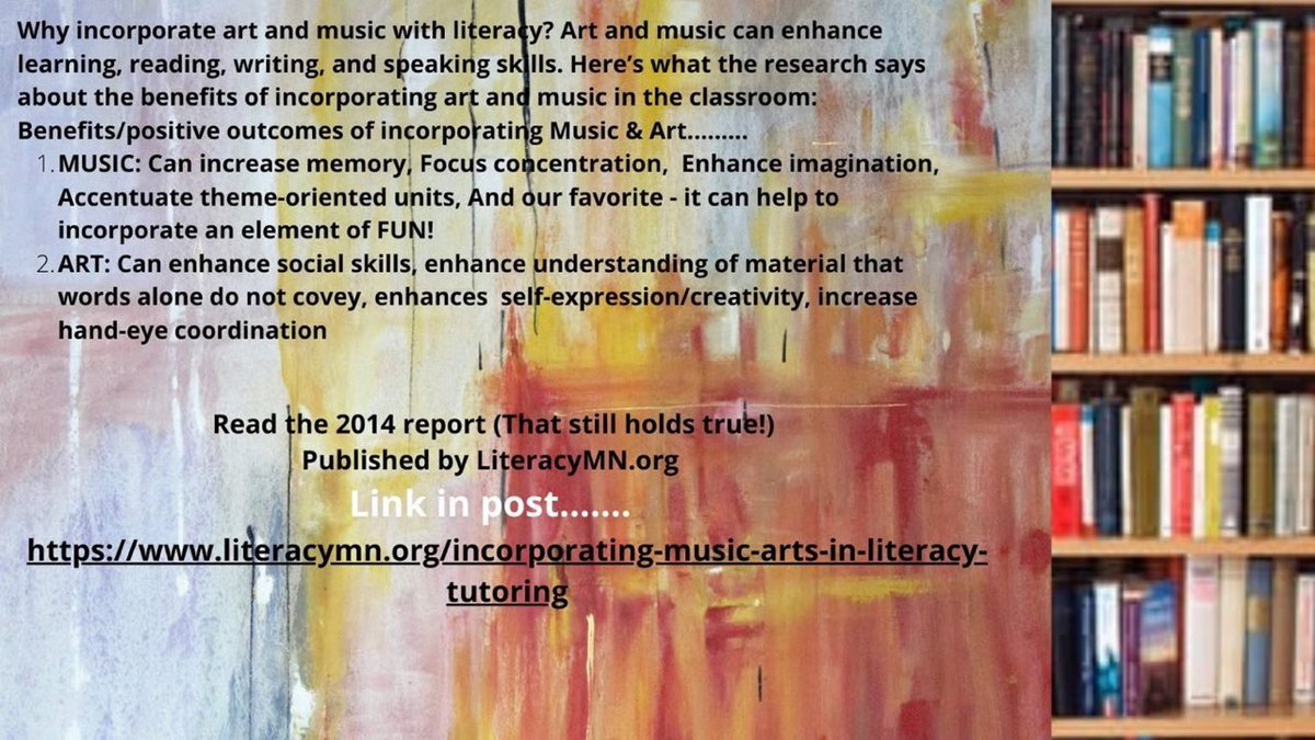 What are the links between #Music #Art & #Literacy? #Teachers #Parents #Educators #kidlit Now more than ever, #Students need the Arts in #Education.It's easier than you think!Need help? Read on👉🏾
