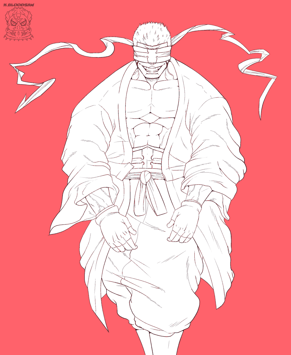Drawing Charon from Fire Force🤓 he's so cool #FireForce #lineart #fanart