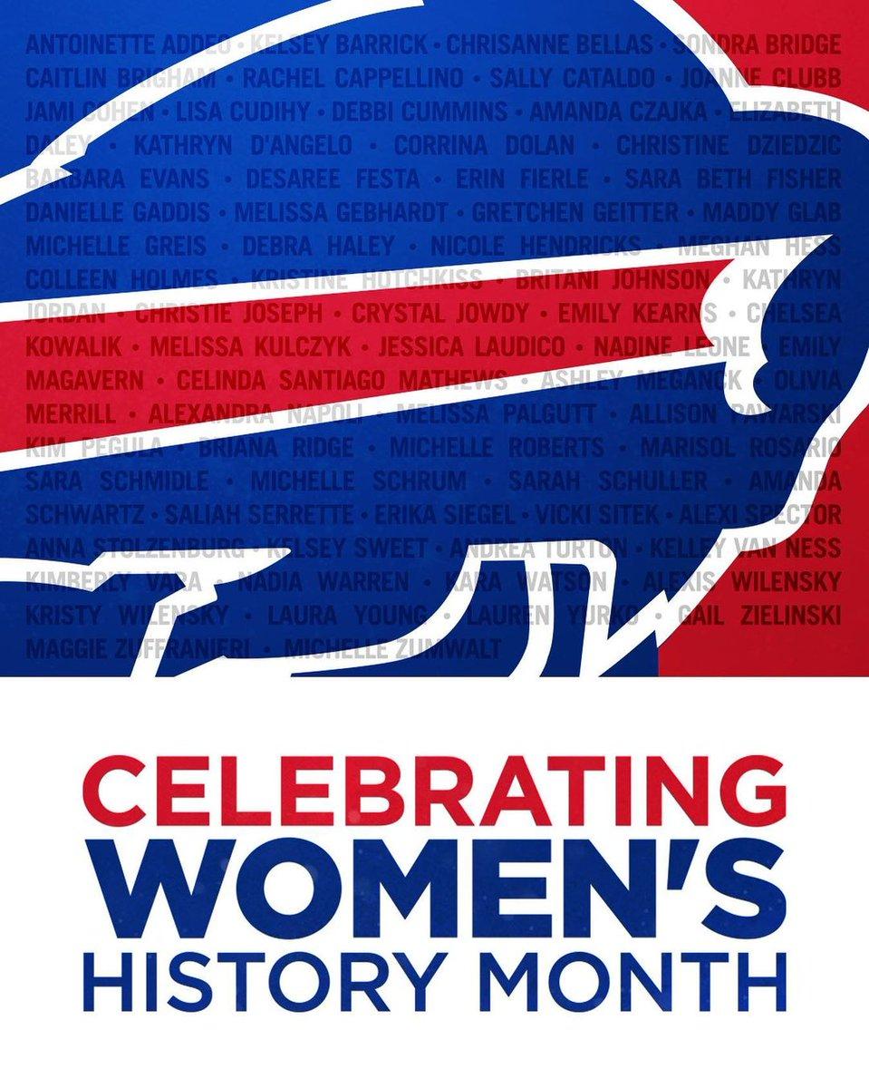 #Buffalo #Bills: We're proud to celebrate these women of the #Bills o ...       #AmericanFootballConference #AmericanFootballConferenceEastDivision #BuffaloBills #Football #NationalFootballLeague #NewYork #NFL #OrchardPark #WomensHistoryMonthand