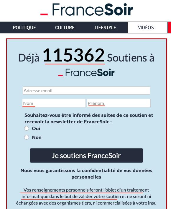 Comment ficher les dissidents de la crise sanitaire : l'escroquerie France-Soir