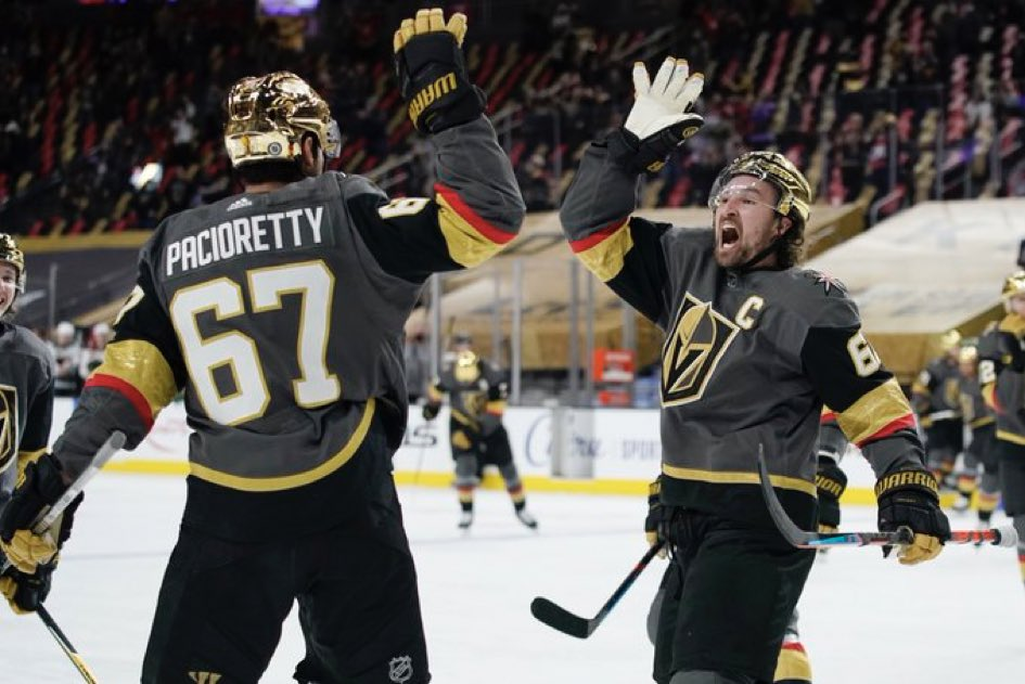What a game in Vegas.  @GoldenKnights rally was impressive, now can Vegas back it up with another win Wednesday.  #VegasBorn  📷:AP