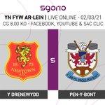Image for the Tweet beginning: Pêl-droed byw o'r JD Cymru
