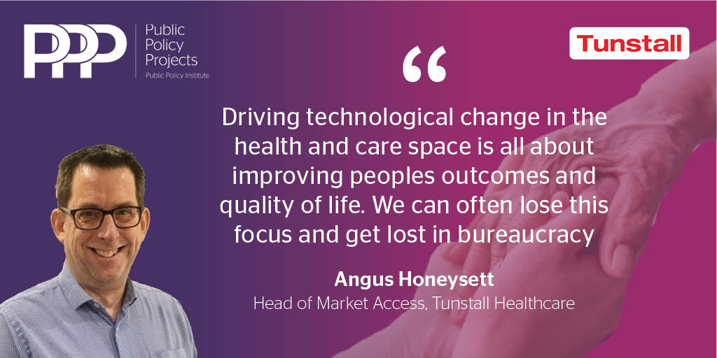 test Twitter Media - Angus Honeysett, Head of Market Access, @TunstallHealth speaking at @Policy_Projects webinar 'The Social Care Challenge: Implementing a Connected System – Introducing Rt Hon Damian Green as PPP Deputy Chair' https://t.co/T7U9wvVZN8