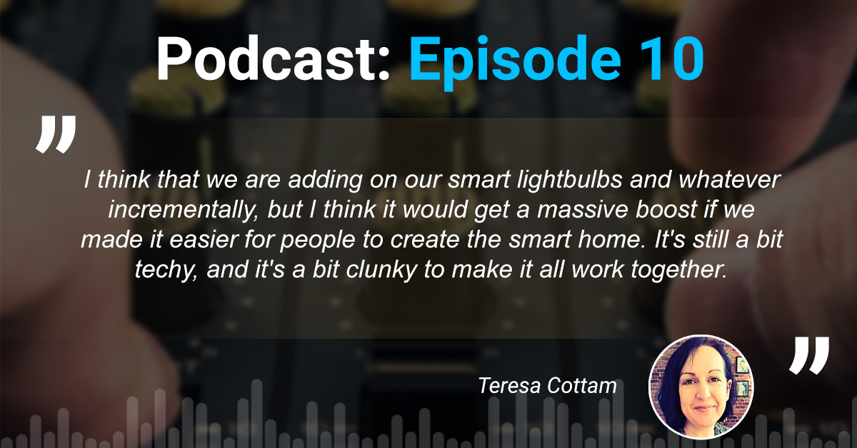 Why is #ConsumerIoT lagging?   There is a clear and unmet need for #smarthome solutions that are easy to integrate. Jeremy wonders if low-power #MeshTechnology will speed things up     Listen here  @Teresacottam #IoT