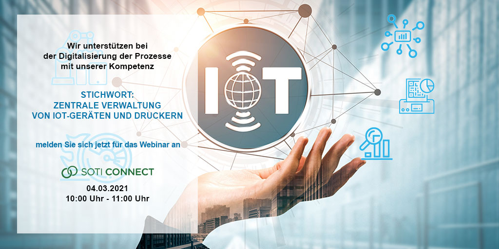 @SOTI_Inc-Webinar-The now and powerful future of Printer & IoT Device administration  SOTI Connect - Jetzt anmelden:   Wir freuen uns auf Sie!  #andreaslaubnergmbh #soti #laubnerautoidsolutions #soticonnect #connect #iot #LifecycleVerwaltung #remotesupport