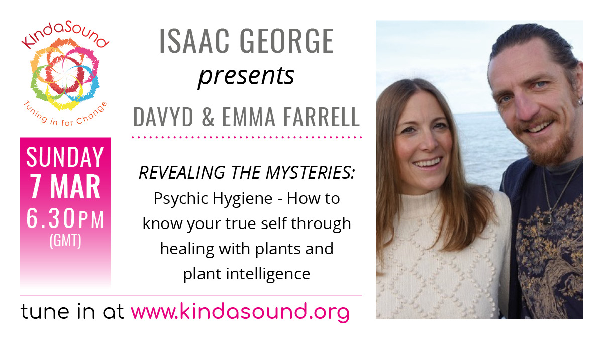 #TuneIn to #RevealingTheMysteries this #Sunday and join #plant #Spirirt #Healers Davyd and Emma Farrell discussing #Amazon #shamanism,  #Yew #Mysteries and #Celtic #Shamanic #Healing #ListenLive:  #KindaSoundLife #KindaHealing #Cornwall #PlantsAsMedicines