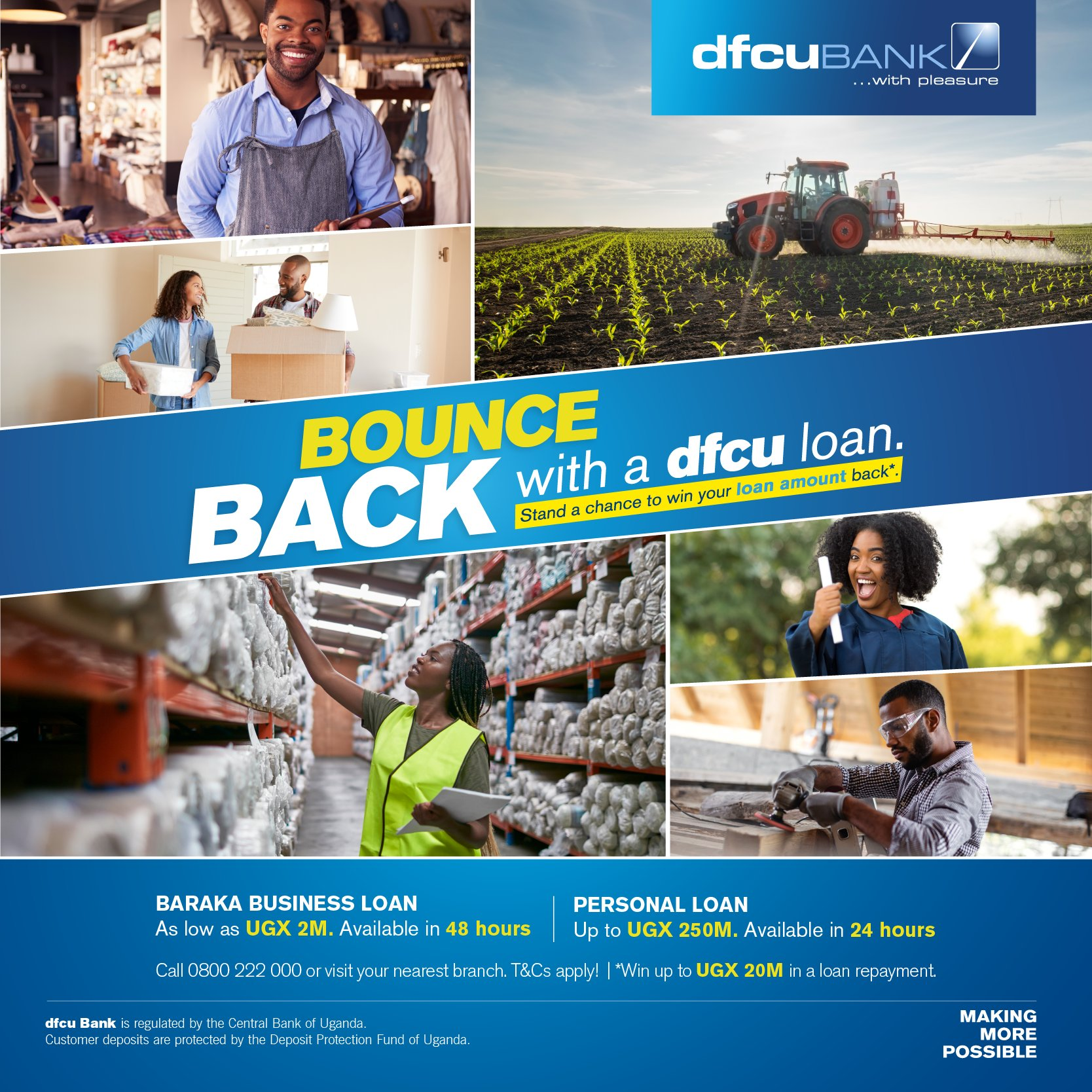 One also stands a chance to win back their loan amount, in the new 'Bounce Back' campaign (Picture: Twitter)