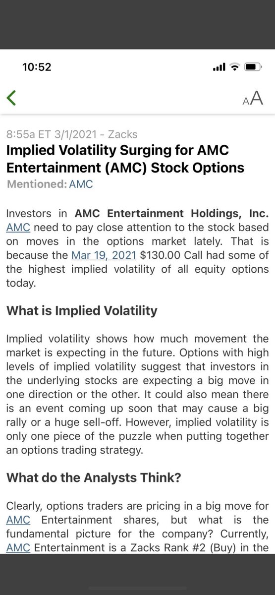 130$ call for March 19th! $AMC #HOLD This is going to be crazy!!